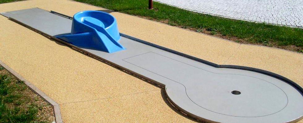 Minigolf tereni - izrađeni od lijevanog betona